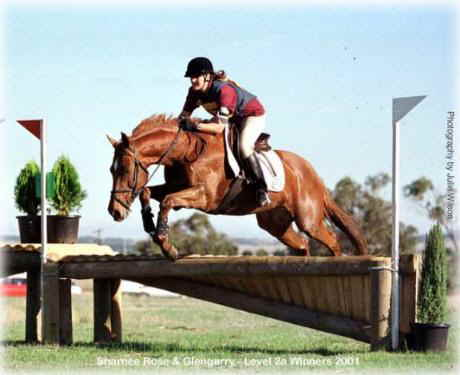 Sharnee Rose and Glengarry at TT Horse Trials 2001 Phot Julie Wilson
